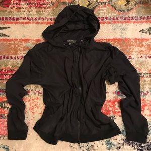Forever 21 0X Plus Size Black Zip Hoodie Jacket